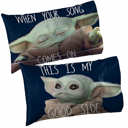 Star Wars The Mandalorian The Child Memes 1-Pack Reversible Pillowcase