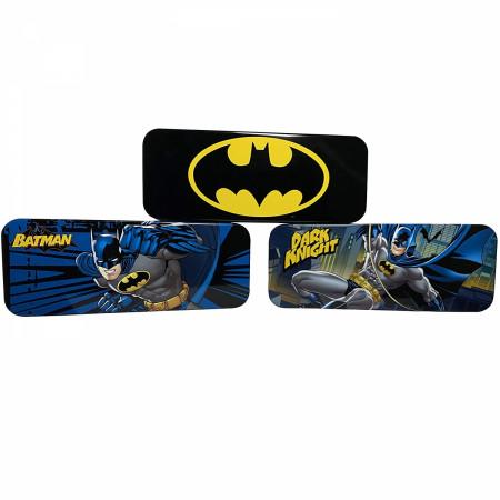 Batman DC Comics Bat Symbol And Character 3-Piece Pencil Box Set