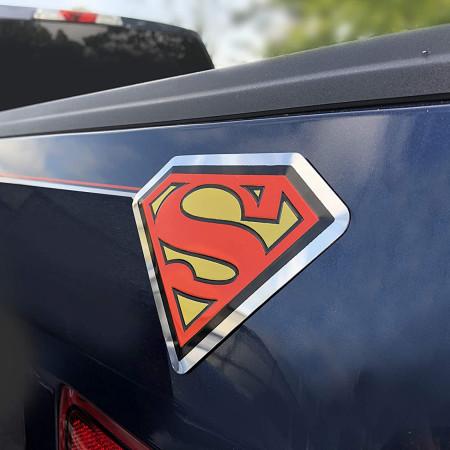 Superman Aluminum Car Decal