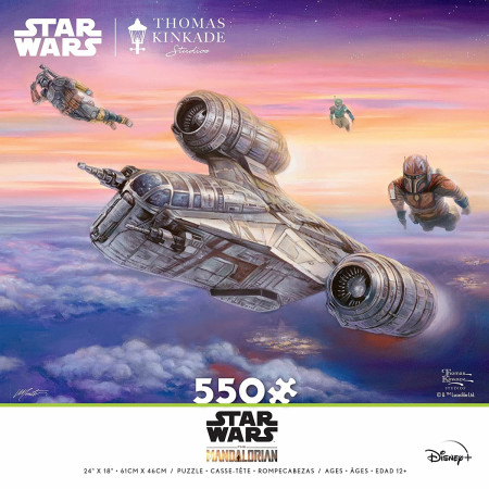 Star Wars The Mandalorian Being Escorted 550 Piece Puzzle