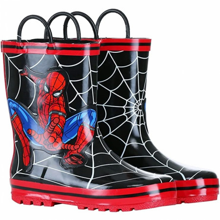 Spider-Man Swinging Web Kids Rain Boots
