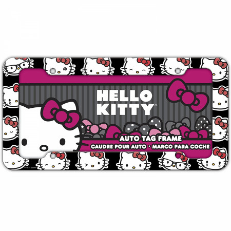 Hello Kitty Character License Plate Frame