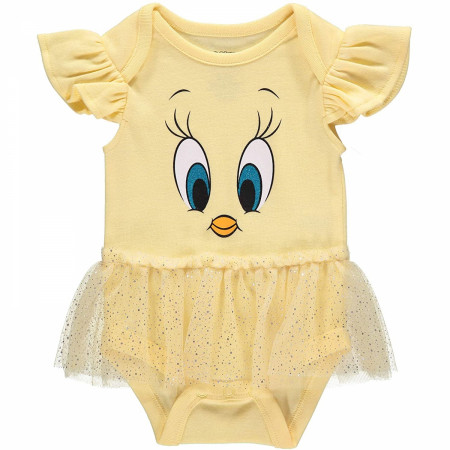 Tweety Bird Looney Tunes Snapsuit with Faux Skirt