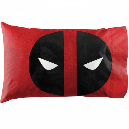 Deadpool Symbols Queen Sheet Set