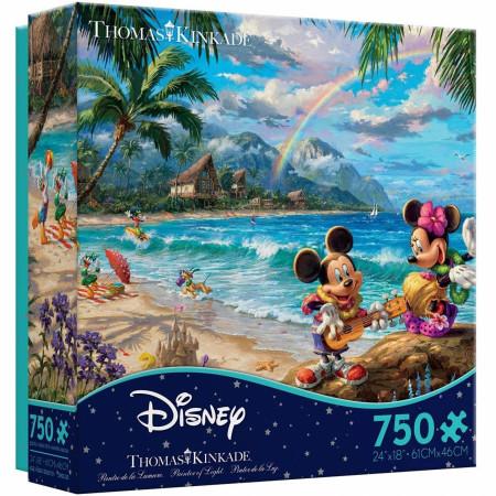 Disney Mickey & Minnie In Hawaii Tropical Theme 750-Piece Puzzle