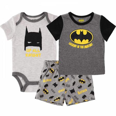 Batman Logo Sleepwear 3-Piece Set