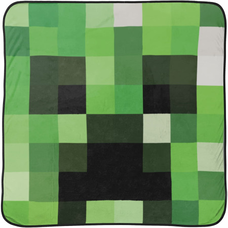 Minecraft Creeper Face Fleece Throw Blanket