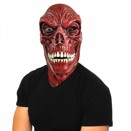 Red Skull Latex Adult Costume Mask