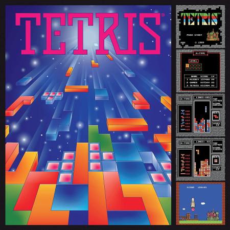 Tetris Retro Gaming Poster 750-Piece Puzzle