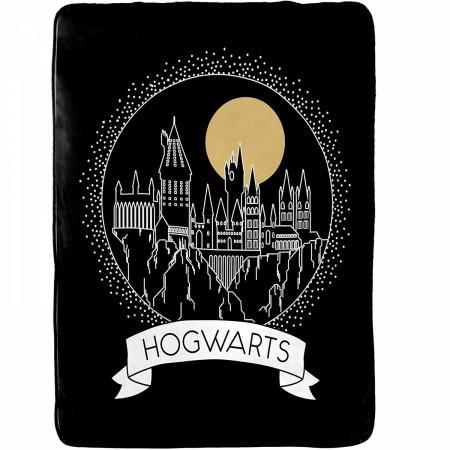 "Harry Potter Hogwarts Moonrise 60"" x 90"" Blanket"