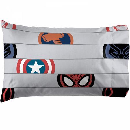 Marvel Avengers Emblem Full Size Bed Sheet Set