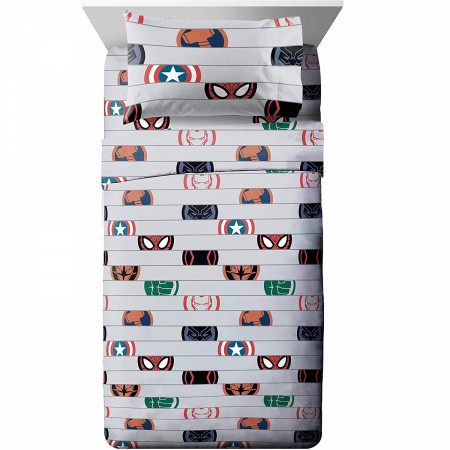 Marvel Avengers Emblem Full Size Bed Sheet Set