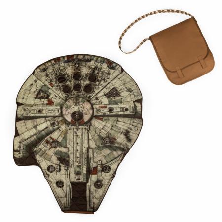 Star Wars Millennium Falcon Blanket In A Chewbacca Bag