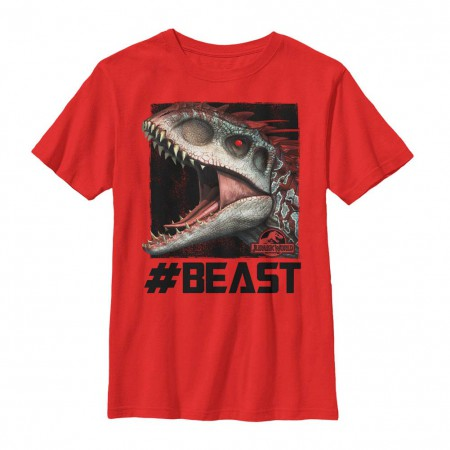 Jurassic World Beast Mode Red Youth T-Shirt