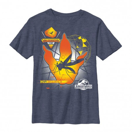 Jurassic World Creation Lab Blue Youth T-Shirt