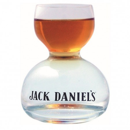 Jack Daniels Double Bubble Shot Glass 2oz