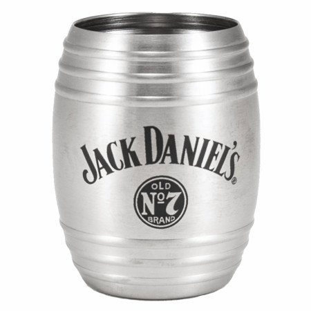 Jack Daniel's 3 oz Metal Barrel Shot Glass