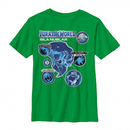 Jurassic World Island Livin Green Youth T-Shirt
