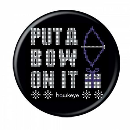 Marvel Studios Hawkeye Series Hawkeye Put a Bow on It Pixelated Button