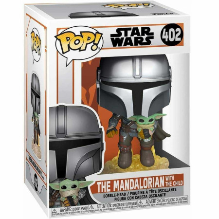 Star Wars The Mandalorian Mando Flying w/Jet Pack Funko Vinyl Pop