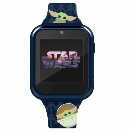 Accutime Star Wars The Child from The Mandalorian All Over Print Interactive Kids Blue Watch