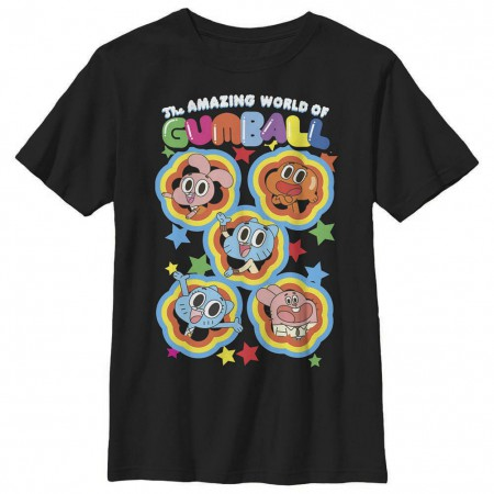Gumball Five Stars Black Youth T-Shirt