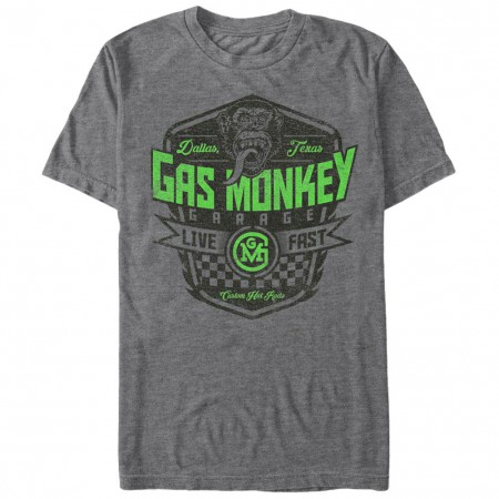 Gas Monkey Garage Monkey Brand Gray T-Shirt