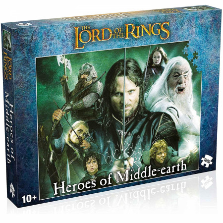 Lord of the Rings Heroes of Middle Earth 1000 Piece Jigsaw Puzzle