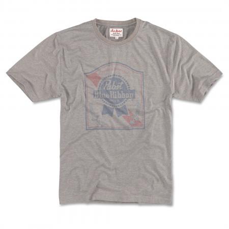 Pabst Blue Ribbon Vintage Fade Label Logo T-Shirt
