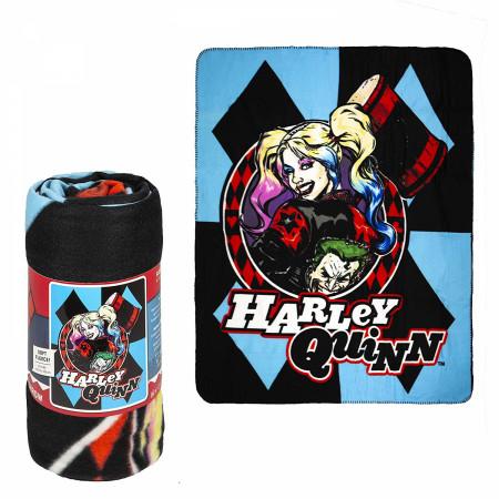 Harley Quinn Lightweight Faux Fur Fleece Large Throw Blanket