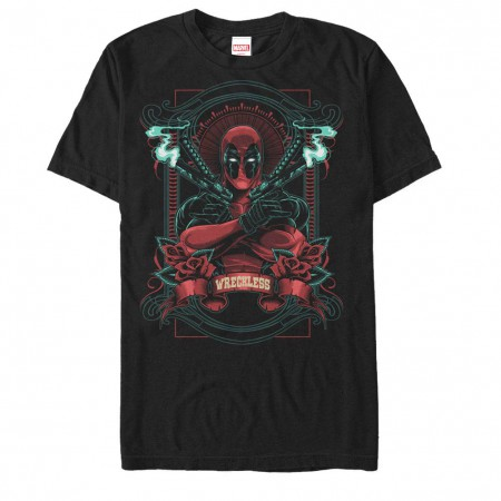 Deadpool Wreckless Men's Black T-Shirt