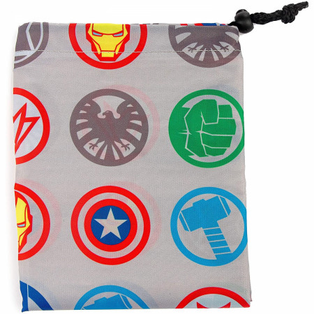 Avengers United Character Symbols Drawstring Laundry Bag