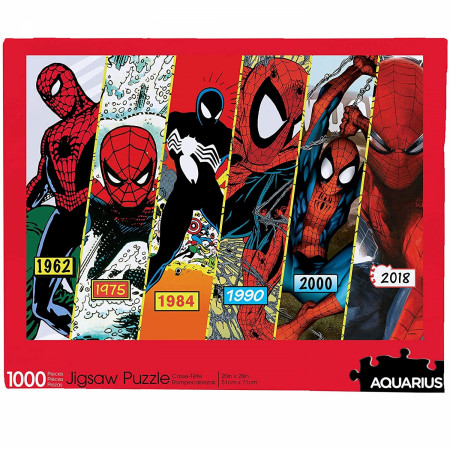 Spider-Man Costume Timeline 1000-Piece Jigsaw Puzzle