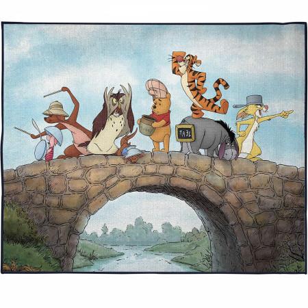 Winnie The Pooh Bridge Scene Room Rug