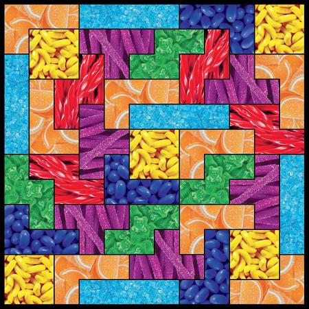 Tetris Game Candy Theme 750 Piece Puzzle