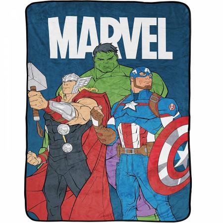 Marvel Avengers Brave & Bold 46 x 60 Throw Blanket