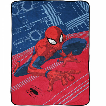 Spider-Man Wall Crawling Character 46 x 60 Throw Blanket