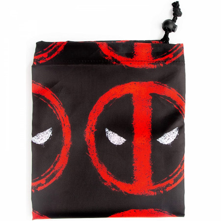Deadpool Face Symbols Drawsting Laundry Bag