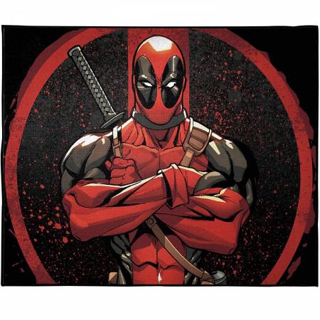 Marvel Deadpool Symbol Room Rug