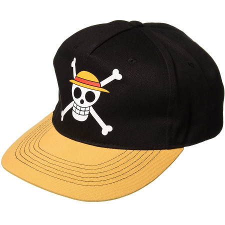 One Piece Luffy Straw Hat Symbol Adjustable Snapback Hat