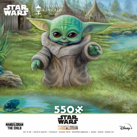Star Wars The Mandalorian The Child Grogu Frog Hunt 550 Piece Puzzle