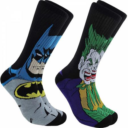 Batman And Joker Character Images 2-Pair Pack of Athletic Socks