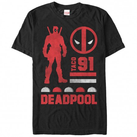Deadpool Sil Black Mens T-Shirt