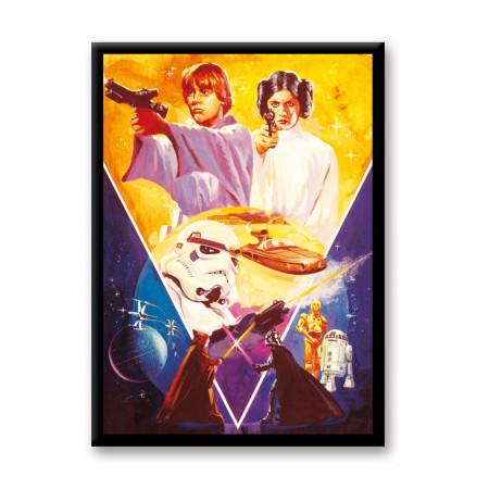 Star Wars Episode 4 Retro Poster Magnet