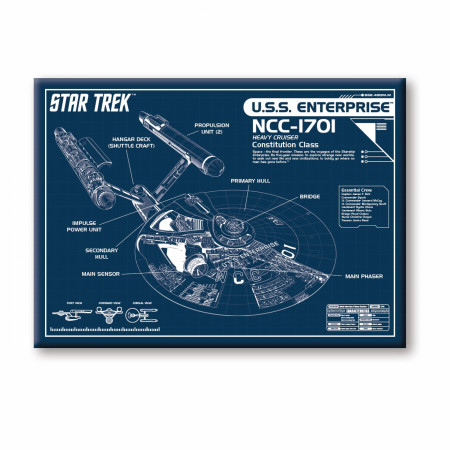 Star Trek U.S.S Enterprise Magnet