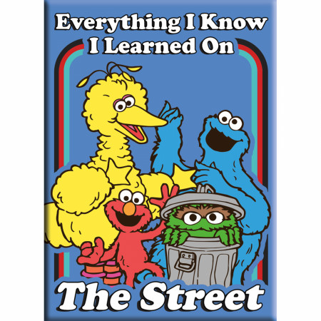Sesame Street Everything I Learned Magnet