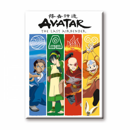 Avatar: The Last Airbender Four Elements Magnet