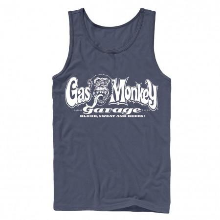 Gas Monkey Garage Blood, Sweat, and Beers Blue Tank Top