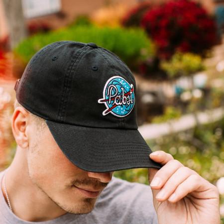 Pabst Patch Black Strapback Hat