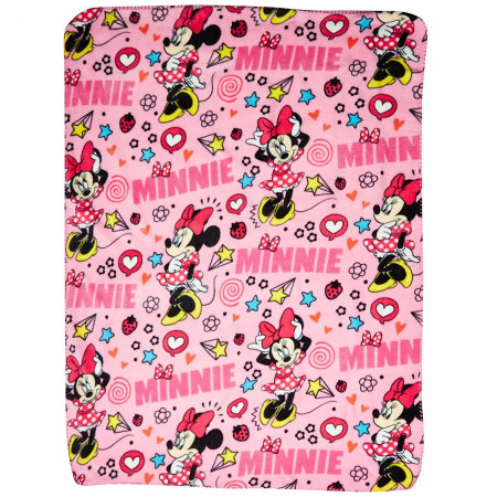 Disney Minnie Mouse Character Doodles Throw Blanket
